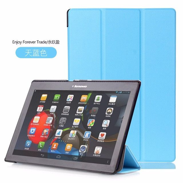 Case for Lenovo Tab 2 A10 70 GARUNK Tri-fold Leather Smart Auto Wake/Sleep Cover for Tab2 A10-70 70L A10-70F A10-70L A10-30 X30F