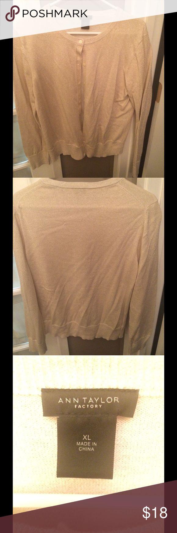 Ann Taylor Gold Cardigan (size XL) Ann Taylor Gold Cardigan (size XL); never been worn and in great condition👍👍 Ann Taylor Sweaters Cardigans