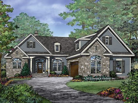 Traditional Home Plan with 1986 Square Feet and 3 Bedrooms from Dream Home Source | House Plan Code DHSW077451