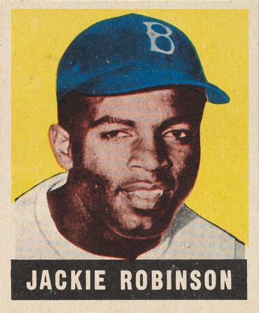 30 Best Movie Baseball Cards Images On Pinterest: Jackie Robinson 1948 Leaf Rookie Card