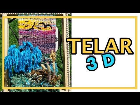 "TELAR DECORATIVO ""Paisaje"" 3D Paso a Paso Árbol Sauce. ""DIMENSIONAL WEAVING"" TUTORIAL. Lana Wolle - YouTube"
