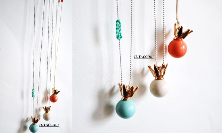 Long necklaces!!! Chains, beads, colourful elements, acrilyc, crowns!!! Spring time!!! Il Tacco!!!!
