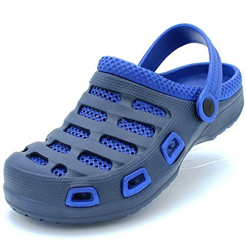 8b94af1effeb92 Garden Clogs for Men Shoes Mules Boat Sandals Slippers Two-Tone Double  Layer Slip-On Massage -- You can find out more details at the link of the  image.