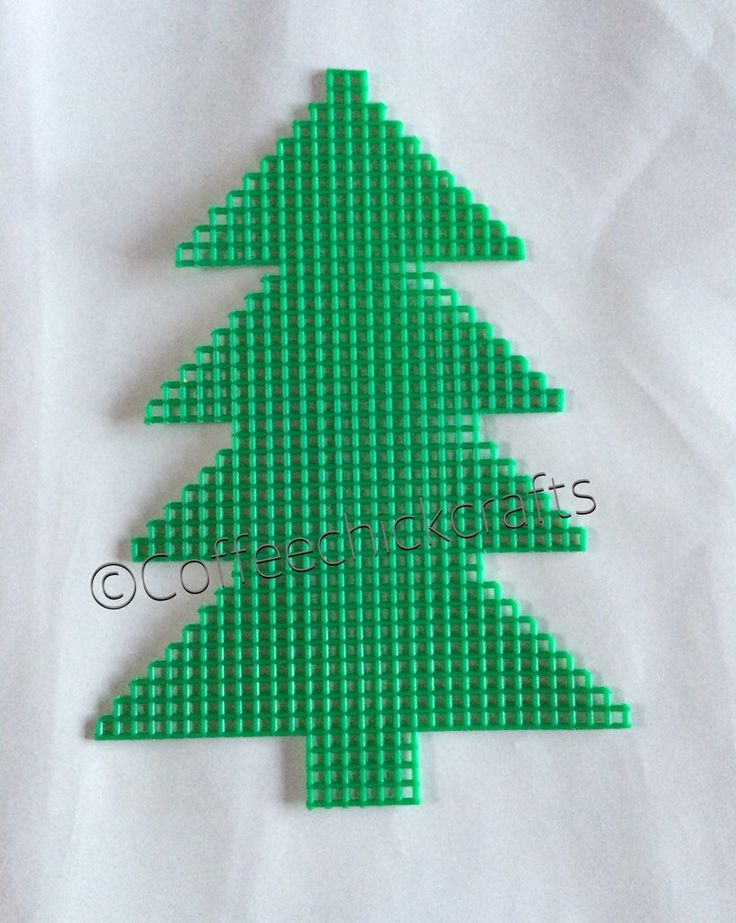 Plastic Canvas Christams tree cutout https://www.etsy.com/listing/255267173/individual-christmas-tree-plastic-canvas