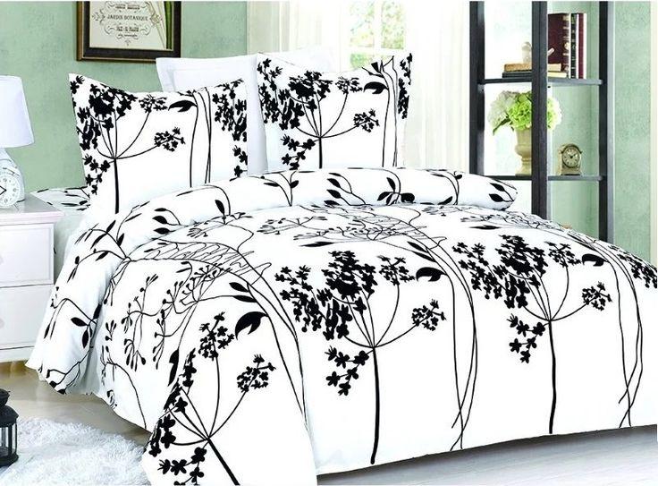Moderné posteľné obliečky s čiernym vzorom