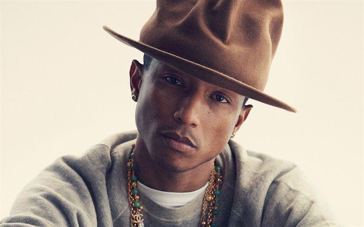 Descargar fondos de pantalla Pharrell Williams, retrato, 4k, cantante, rapero, American celebridades