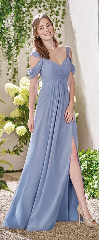 Wonderful Chiffon V-neck Neckline A-Line Bridesmaid Dresses With Pleats