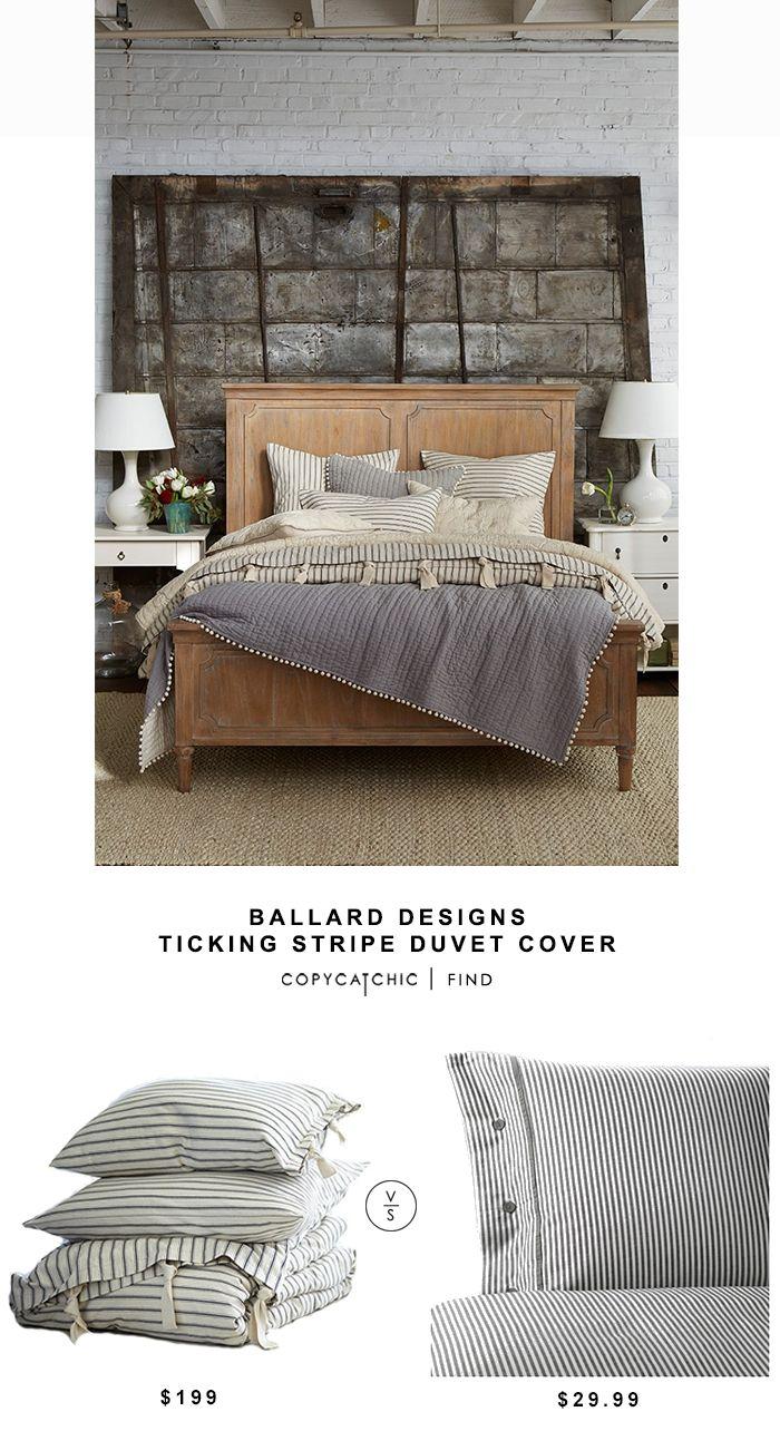 Ballard Designs Ticking Stripe Duvet Cover | Copy Cat Chic | Bloglovin'