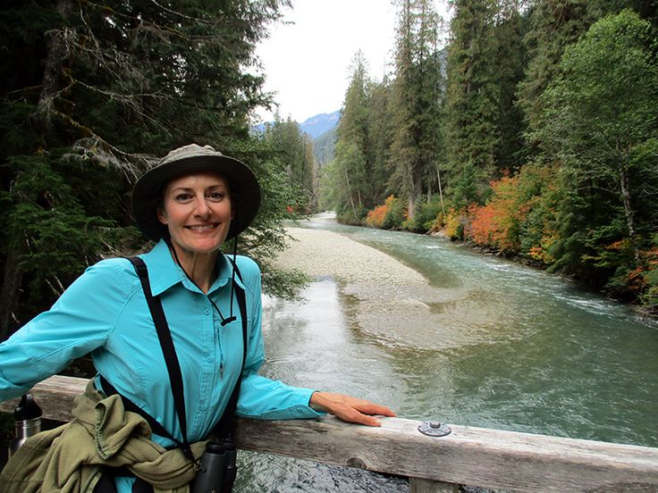 Christi on Thunder Creek Trail in North Cascades National Park