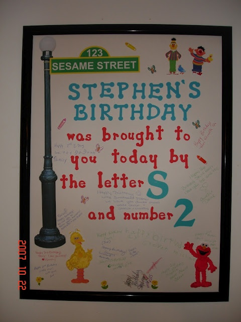 Sesame Street birthday poster. Yup have to do this if im going wit this theme