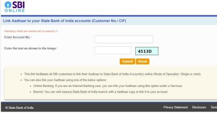 Aadhar Card Link To Sbi Bank Account Online And Offline Aadhar Card