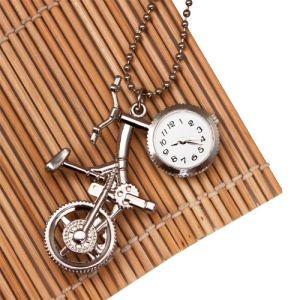 Подвеска-часы Велосипед (серебряный) ― Biju-Shop.ru