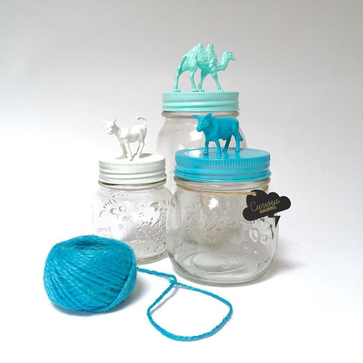 Cute and Curious animal jars available in my etsy store CuriousImaginingsArt