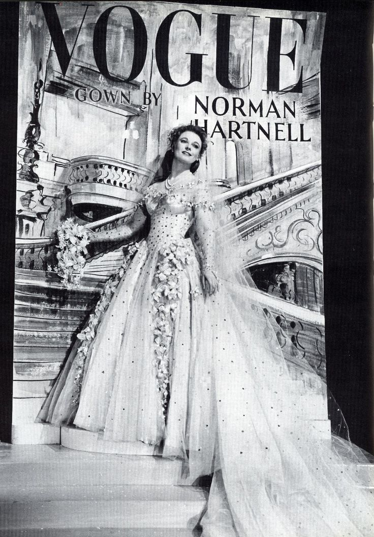 Anna Neagle in Maytime In Mayfair: Norman Hartnell 1949: Magazine Covers, Hartnell 1949, 1949 Annaneagle, Wedding Dress, Bride Cover, Vogue Covers