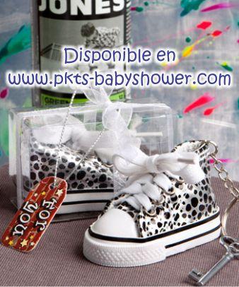 Recuerdos para Baby Shower - Llavero Tenis Converse Negro ...