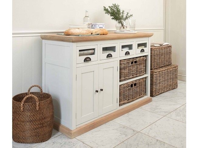 This Southwold Storage Unit is simply beautiful. Its traditional styling will add a classic touch to your #home with its neutral stone colouring and rustic rattan storage baskets. With 4 drawers, 2 large baskets and a cupboard this storage unit will store everything you need with ease. Real wood with a solid, chunky white cedar dresser top.  #storage #livingroom #hallway