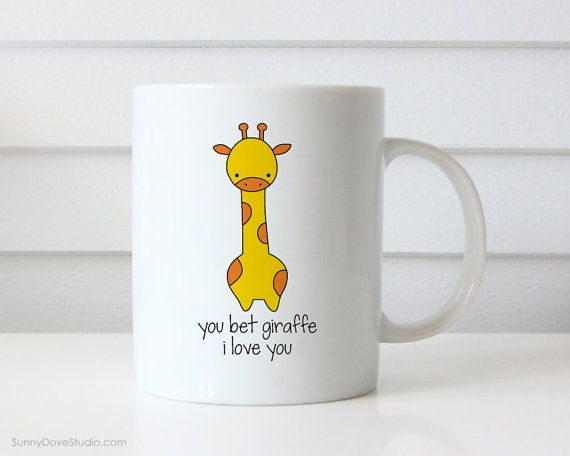 Valentine Gift For Girlfriend Boyfriend Wife Husband Funny Mug Valentines Day Bet Giraffe I Love You Pun Love Birthday Gifts Mugs Her Him  You Bet Giraffe I Love You. This cute giraffe mug is a fun way to tell your girlfriend, boyfriend, wife, husband, that special someone in your life just how much they mean to you!  Perfect for Valentines Day, celebrating your anniversary or wishing the one you love a happy birthday, this funny mug makes a sweet companion to any daily coffee routine…