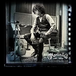 LP with her Martin ukulele