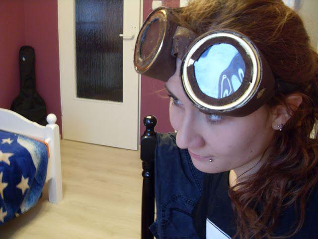 Kwiatkowska eksperymentuje.: Okularnik (steampunkowe gogle)