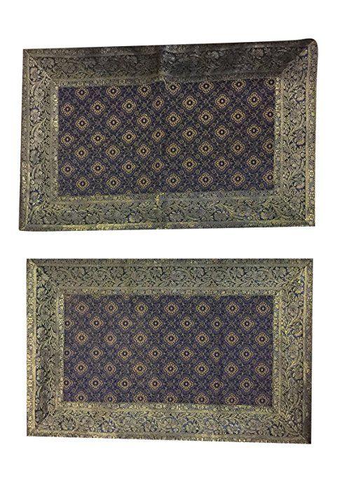 Mogul Vintage Pillow Cover Indian Sari Silk Gold Threads Pillow Case Home Décor  #cushioncover #christmasdecor #sale #homedecor