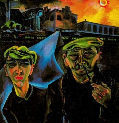CONRAD FELIXMULLER  Workers Returning Home (1920s)