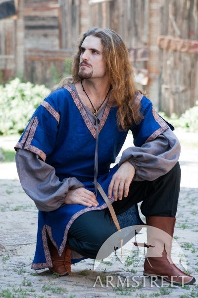 Classic Medieval Summer Short Sleeve Mens Tunic by armstreet, $102.00