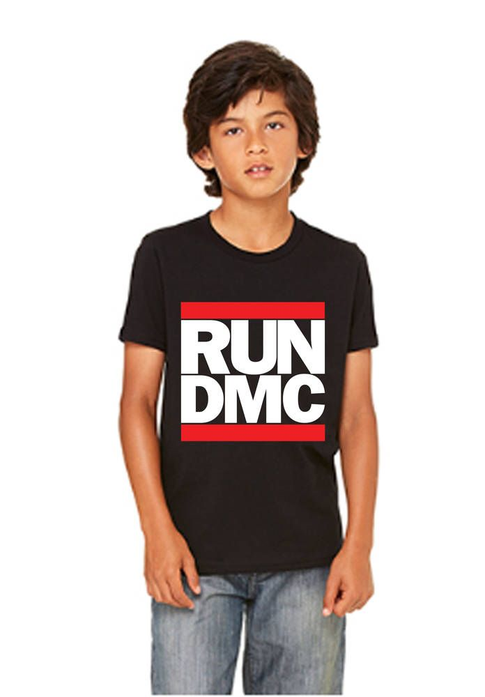 RUN DMC Inspired Youth T-Shirt - 3001Y by SamSamDesigns on Etsy https://www.etsy.com/listing/532912443/run-dmc-inspired-youth-t-shirt-3001y