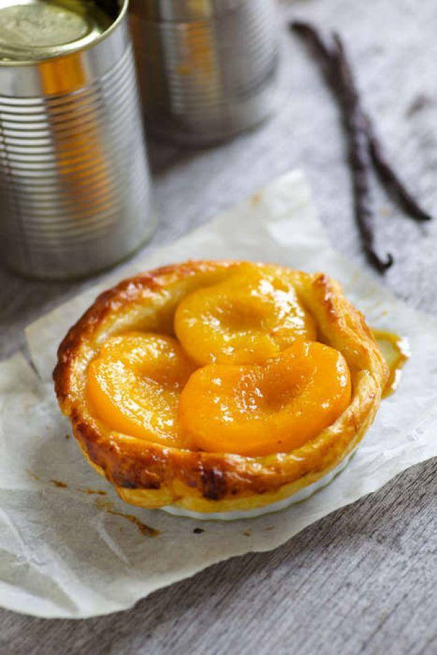 Persika med vanilj och lemoncurd - Mitt kök