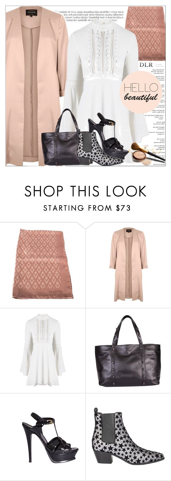 """""""DLRBOUTIQUE.COM"""" by mirachu-1 on Polyvore featuring Valentino, River Island, For Love & Lemons, Borbonese, Yves Saint Laurent and CO"""