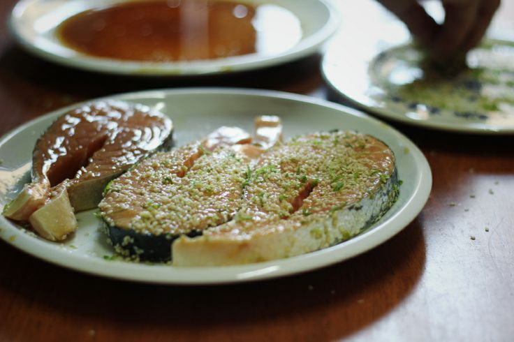 Salmon with sesame – limecrust..