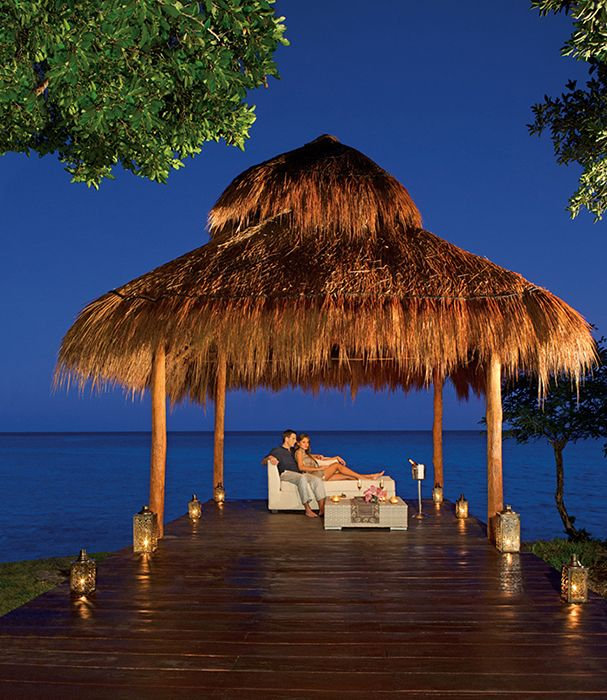 Enjoy a romantic dinner with someone special at Secrets Aura Cozumel!