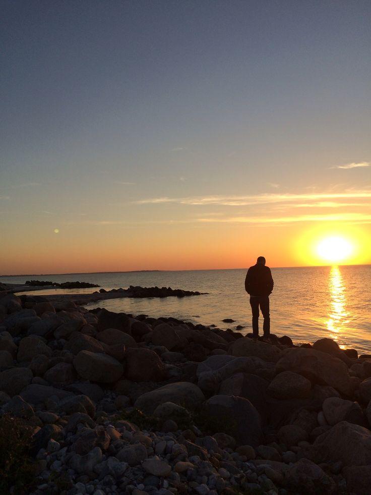 Solnedgang ved Kattegat , sensommer 2015
