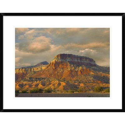 Global Gallery Sandstone Butte Showing Sedimentary Rock Layers, New Mexico by Tim Fitzharris Framed Photographic Print Size: