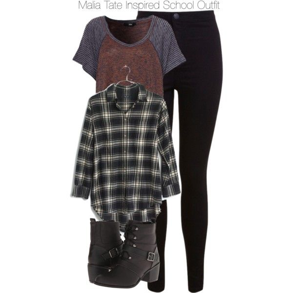 """Teen Wolf - Malia Tate Inspired School Outfit with a plaid shirt"" by staystronng on Polyvore"