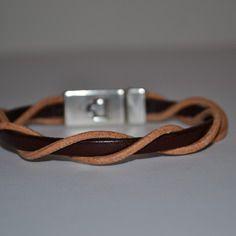 """Bracelet Homme """"Hippie"""" en métal et cuir par Sésé'Dille."""