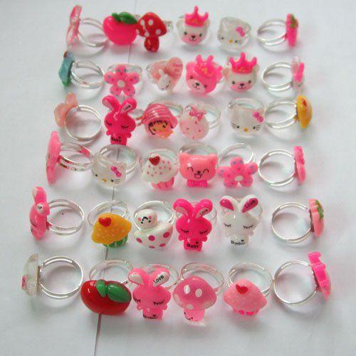 Детские / детские / детские гил палец кольцо, мода ювелирные изделия кольца заказ смешивания для 36 шт.
