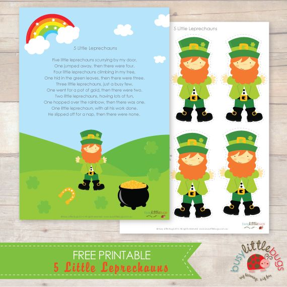 It's just a graphic of Tactueux Printable Leprechaun Story