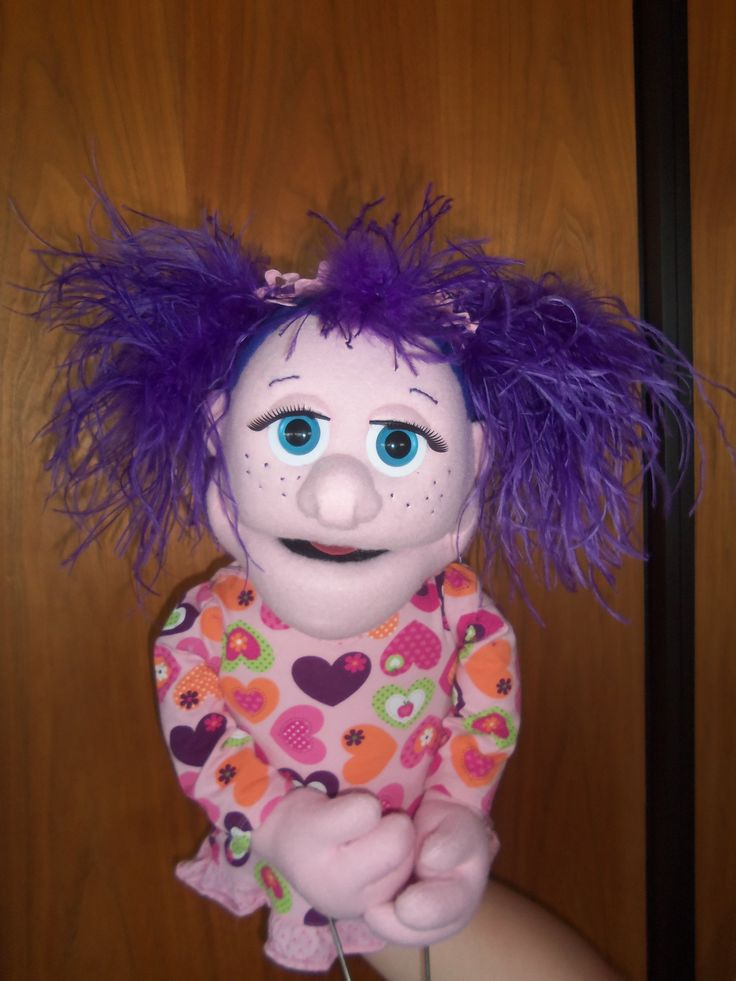 Pink Girl by PJs Puppets - custom professional puppet: