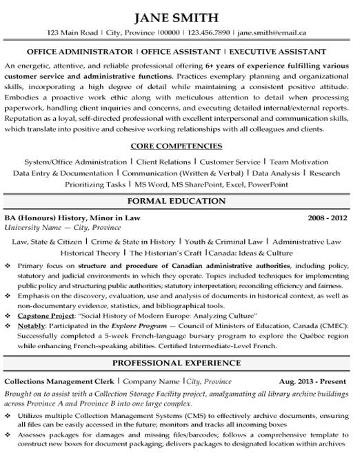 business administration resume format curriculum vitae sample click here download office administrator template free templates