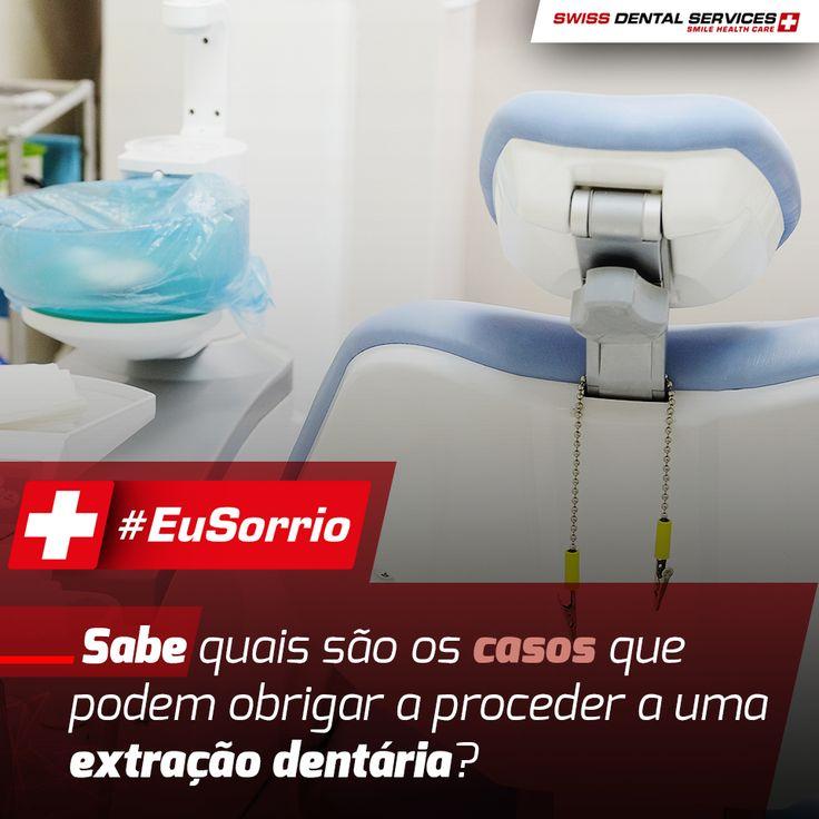 Sabe quais são os casos que podem obrigar a proceder a uma extração dentária? Descubra no nosso site > http://www.swissdentalservices.com/tratamentos/cirurgia-oral/ -------------------------------------------- Marque JÁ a sua Consulta>  800 282 282 (LINHA GRATUITA) www.swissdentalservices.com #dentista #implantes #sorriso #clínica #eusorrio