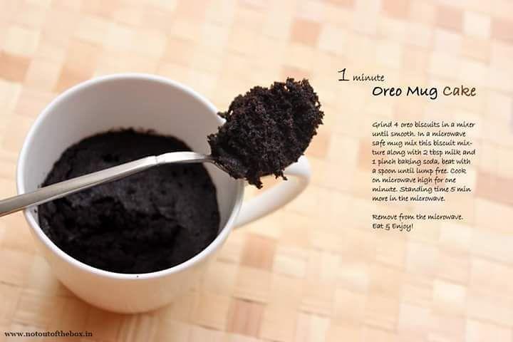 1 min3 ingredients oreo mug cakego go make it now