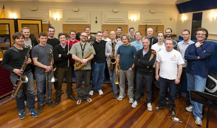 "Jazzgroove Mothership Orchestra ""Walkabout - A Place for Visions"" sessions in Sydney, with Alex Sipiagin and Bob Sheppard"