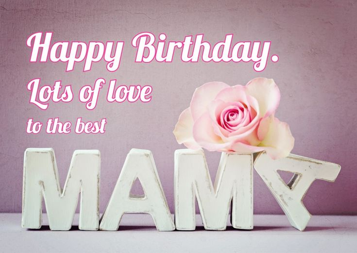 Lots of Love To The Best Mama | Happy Birthday | Send real postcards online | MyPostcard.com