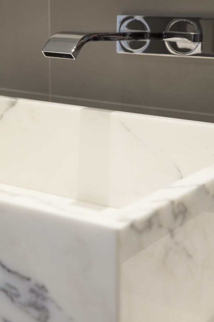 Marble basin -Designed by JHR Interiors
