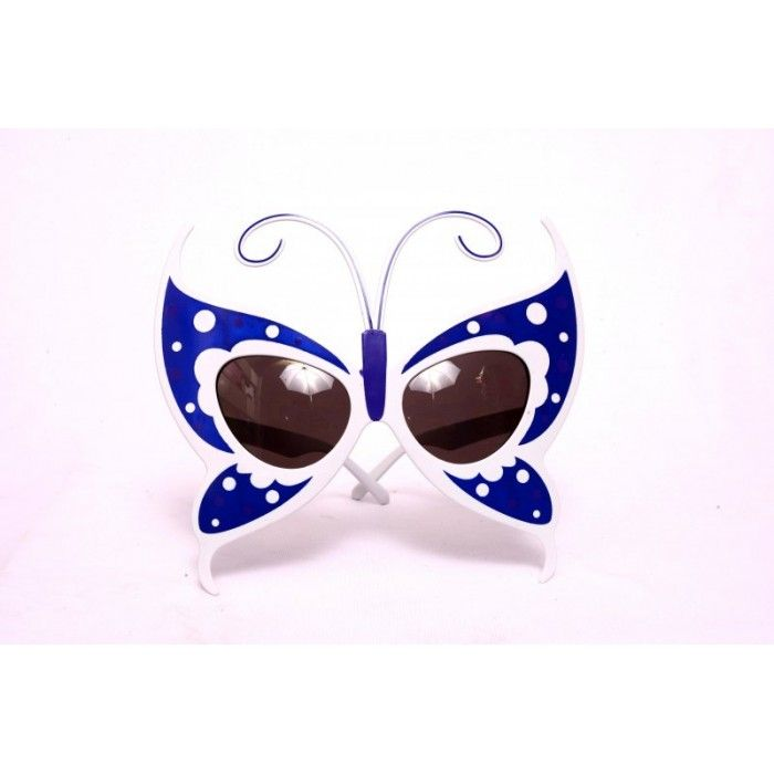 Buy Blue Butterfly Eye Glasses Online. Complete your #butterflylook with these dashing blue coloured #butterfly #eyeglasses. They have polka dot print and a must for all butterfly theme parties, hens party or any other occasion!! They come with 400UV protection! One size fits almost all!!! #Party #Eyeglasses
