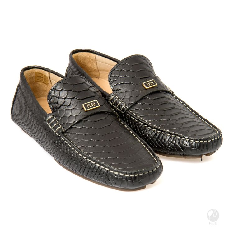 Men's black casual loafers by FeriStore on Etsy