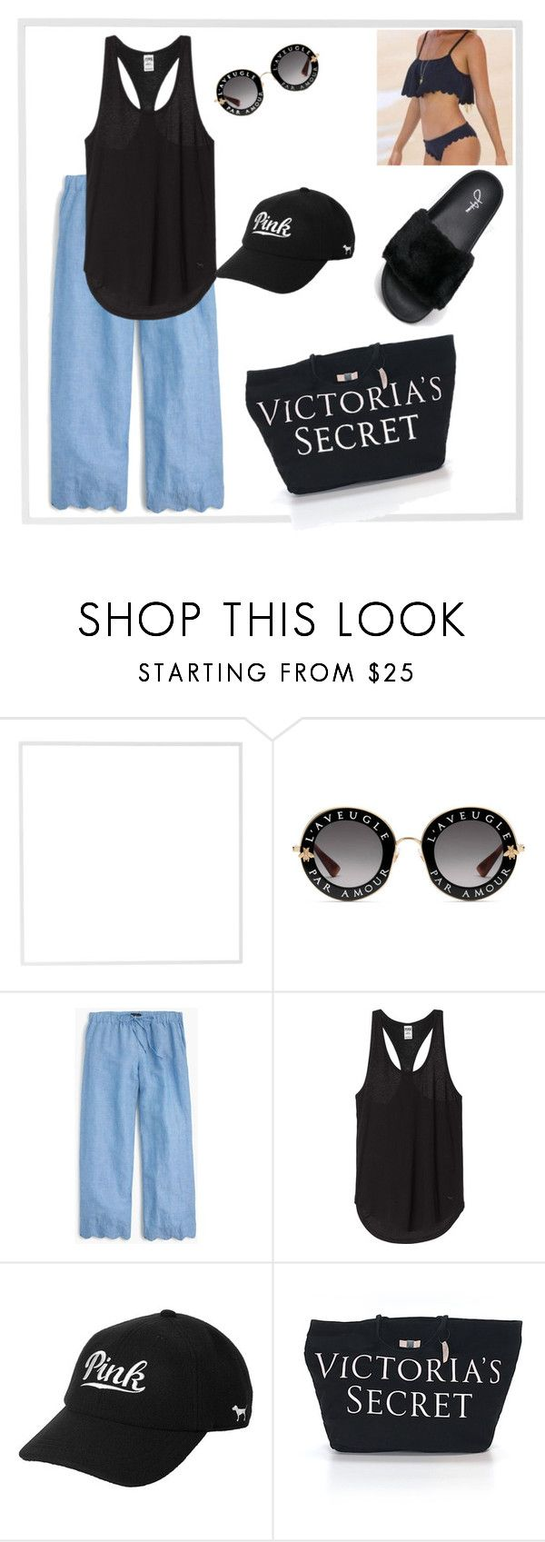 """""""Today's OOTD"""" by gigi-sessions ❤ liked on Polyvore featuring Menu, Gucci, J.Crew and Victoria's Secret"""