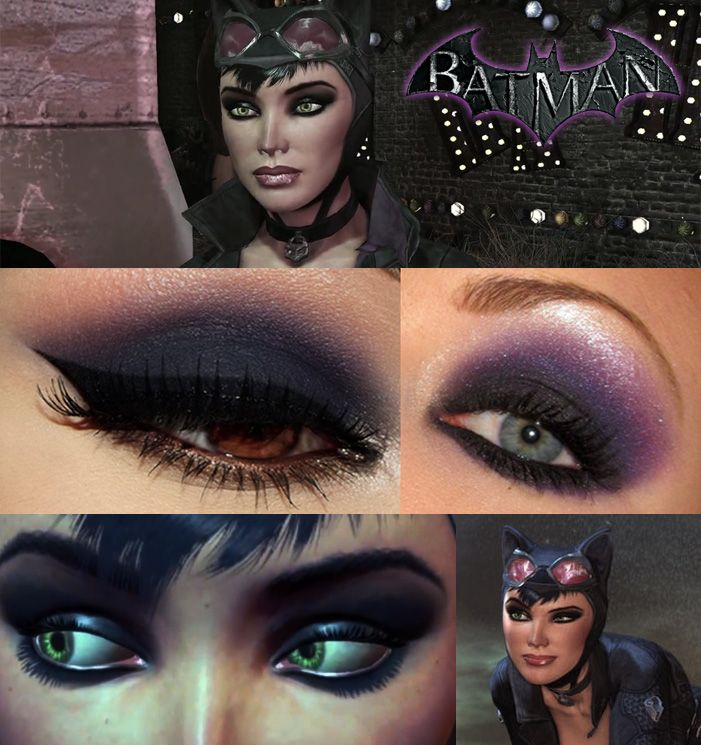 "Catwoman makeup from ""Batman - Arkham City""."