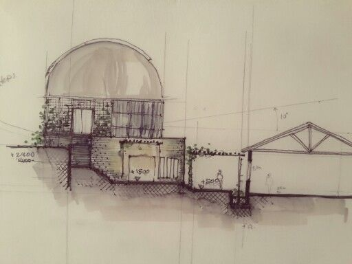 104 best concept art architektura images on pinterest my 2013 3rd year observatory project concept sketch section on tracing paper rendered with copic malvernweather Images