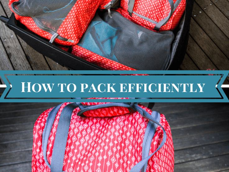 How to pack a suitcase effeciently